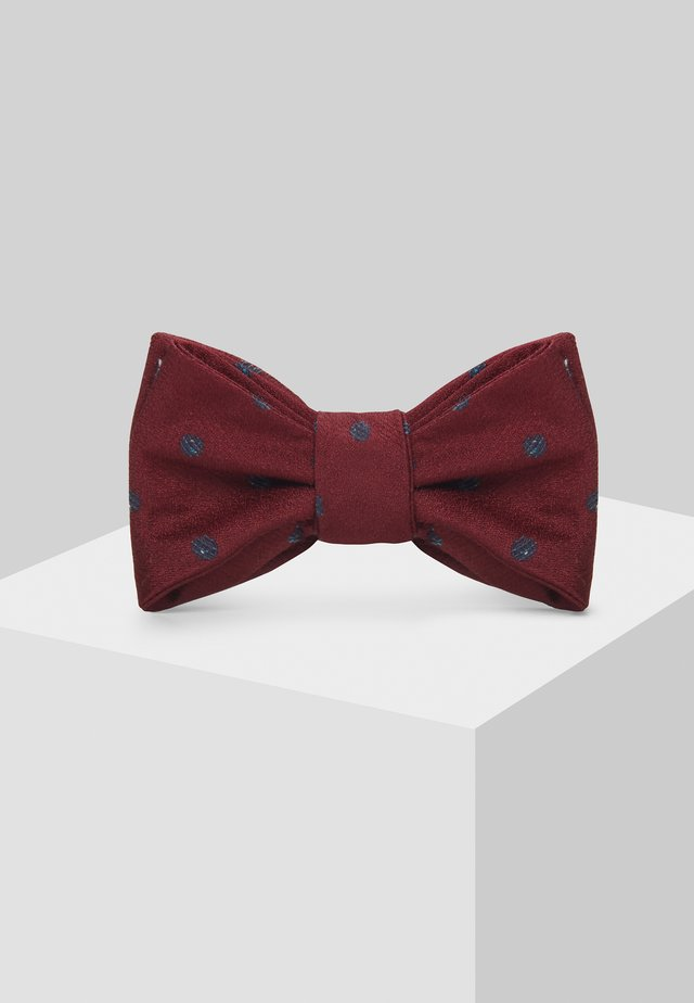 MENS BURGUNDY SPOT SELF TIE BOW TIE - Bow tie - dark blue
