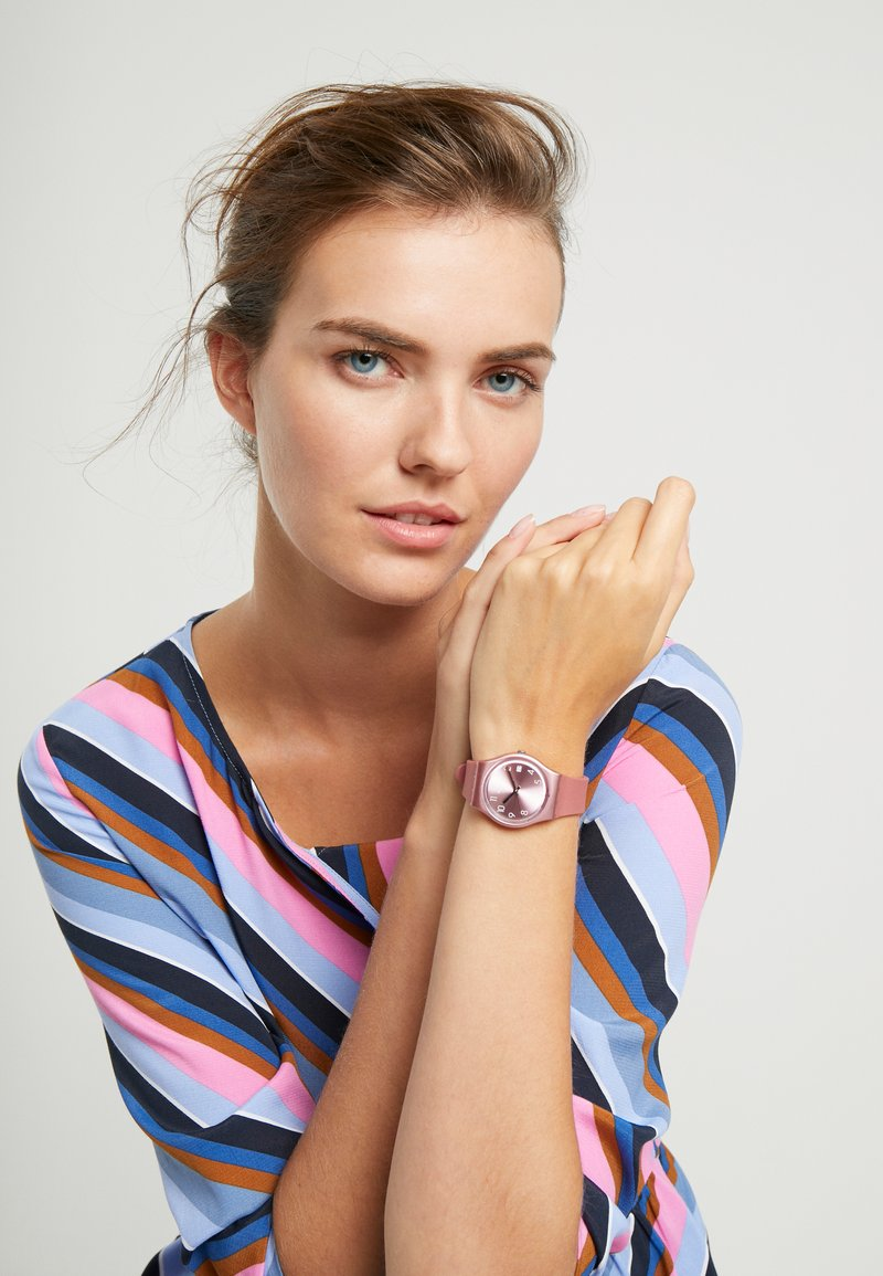 Swatch - DATEBAYA - Zegarek - pink