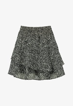 A-line skirt - black/white