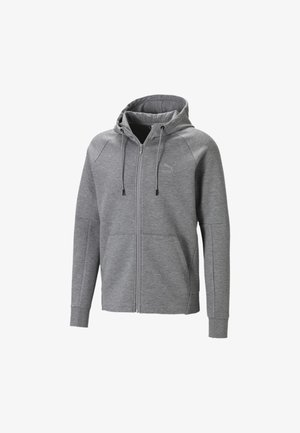 Felpa aperta - medium gray heather