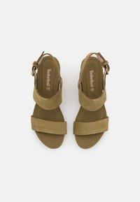 Timberland - CAPRI SUNSET WEDGE - Sandály na klínu - olive - 5