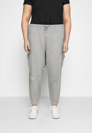 PANT - Cargo trousers - grey heather/white