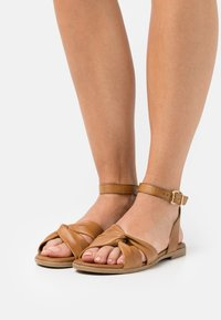 Anna Field - COMFORT LEATHER - Sandals - cognac - 0
