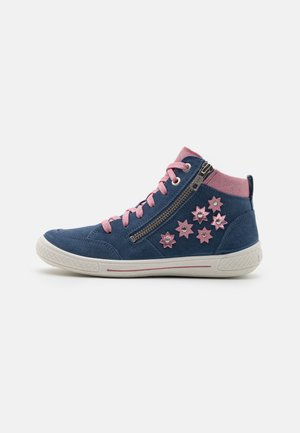 TENSY - High-top trainers - blau/rosa