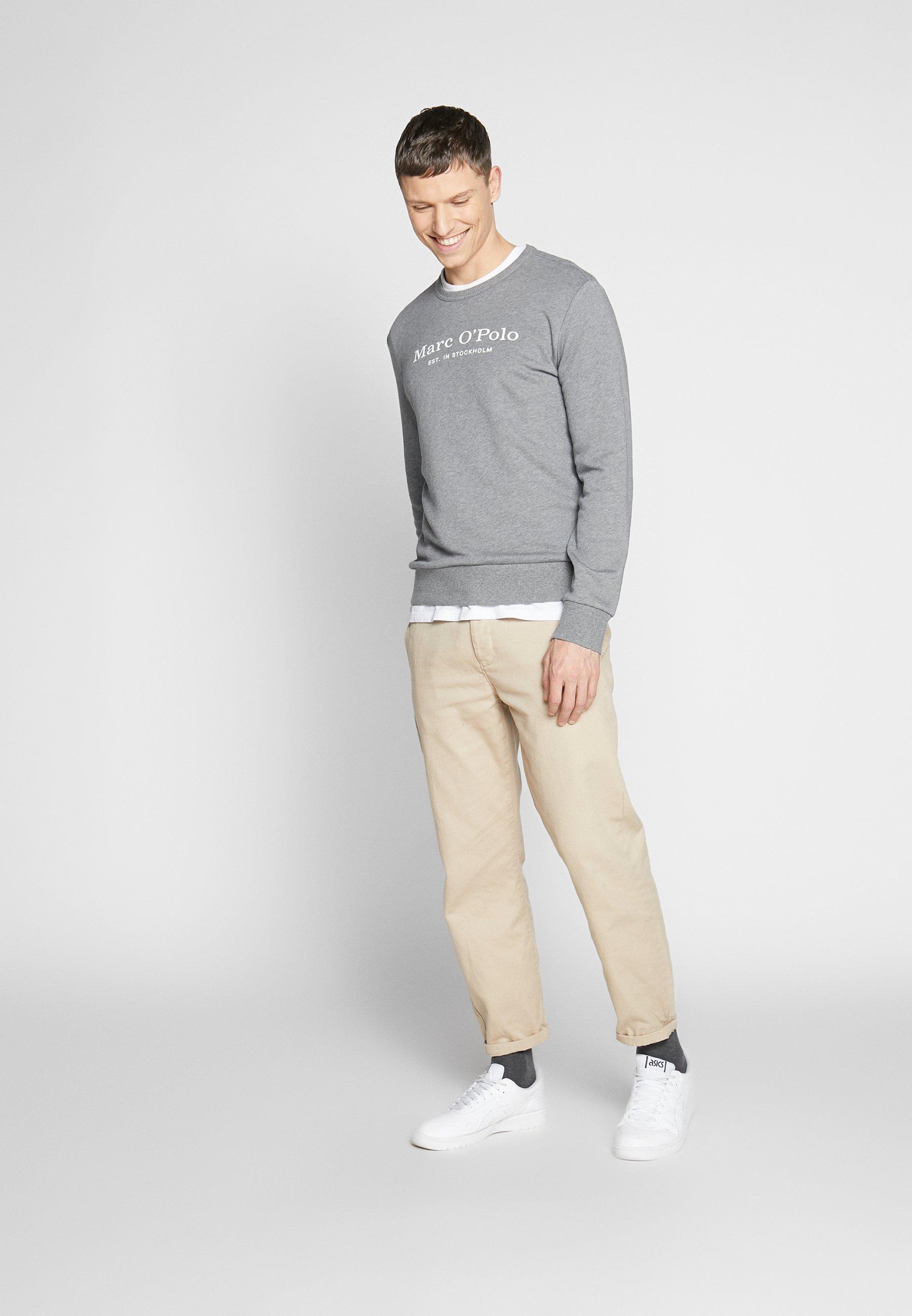 Marc O'Polo CREW NECK - Sweatshirt - grey melange