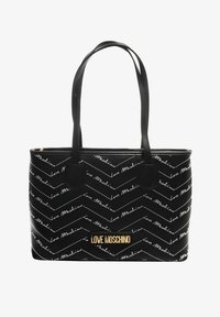 Love Moschino - SHOPPER MIT LABEL PRINT - Handbag - schwarz - 0