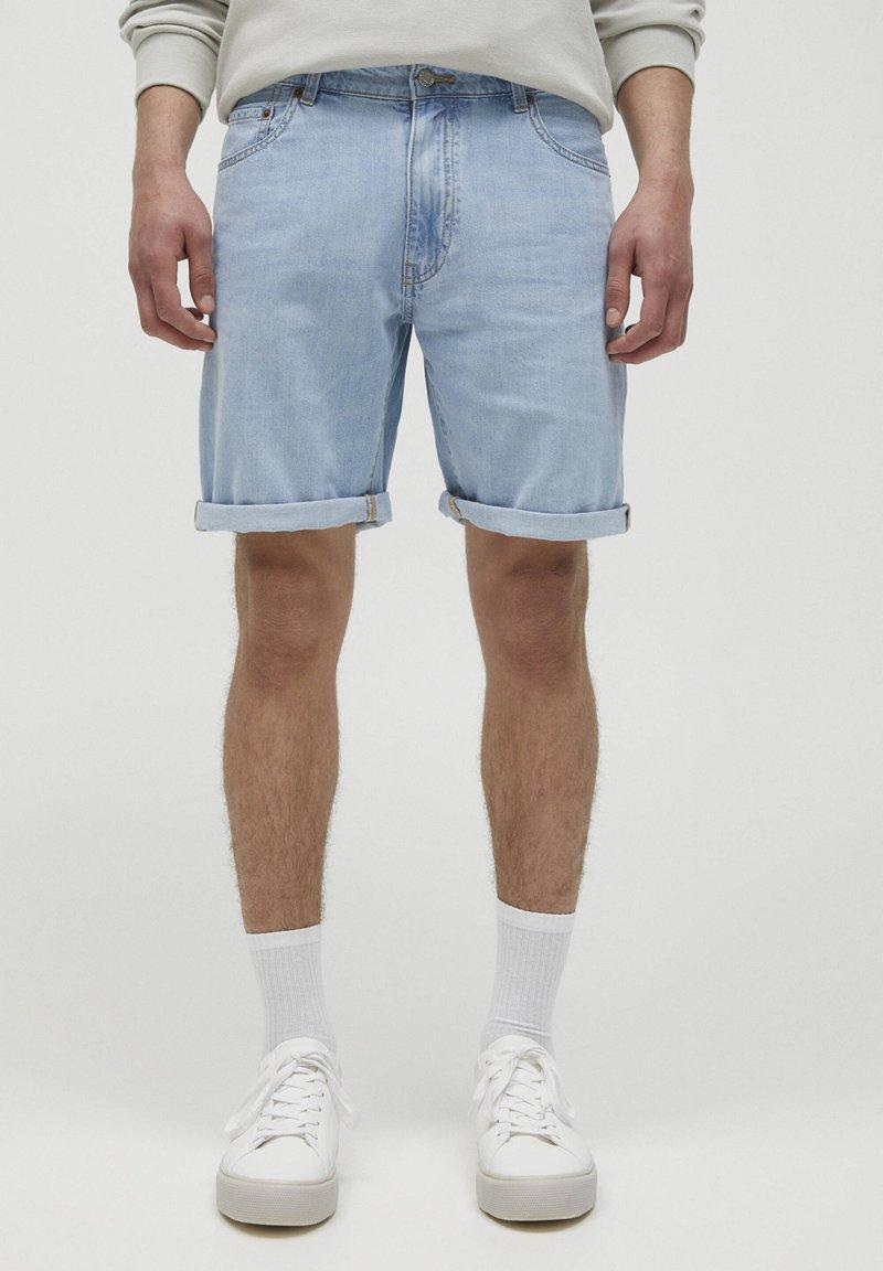 PULL&BEAR - Jeans Short / cowboy shorts - blue-black denim