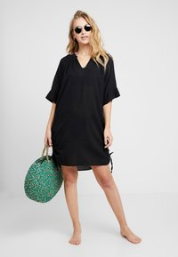 Seafolly - BEACH TEXTURED COVER UP - Complementos de playa - black - 1