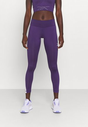 LINEAR LOGO - Tights - dark orchid