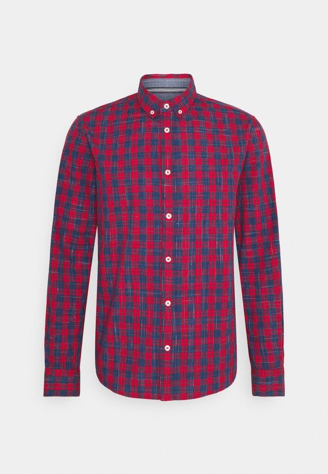 REGULAR CLASSIC CHECK - Shirt - red/navy