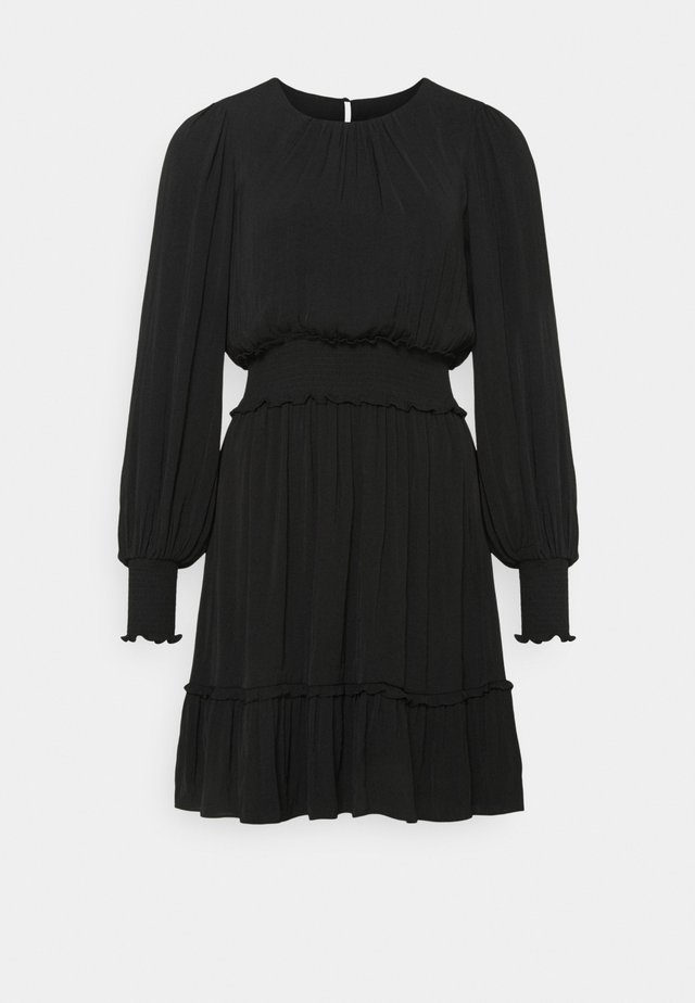 JESSICA LONG SLEEVE SMOCK DRESS - Freizeitkleid - black