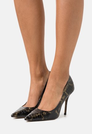 GALICIA - High heels - black/gold
