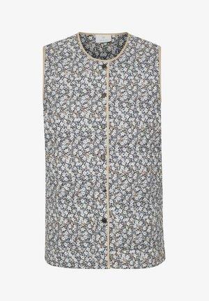 KANIOLA - Waistcoat - blue / beige flower