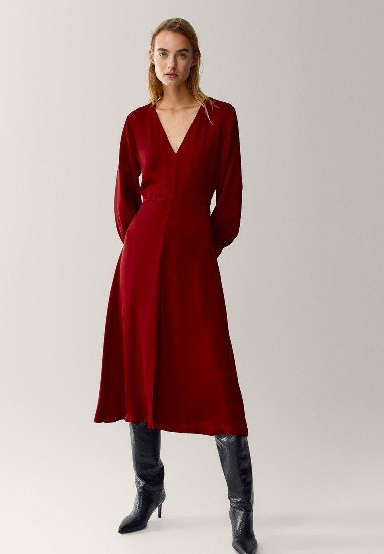 Massimo Dutti - Korte jurk - red
