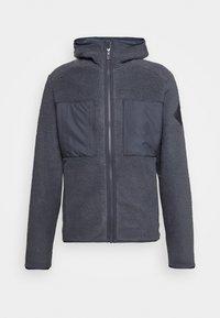 Salomon - SNOWSHELTER TED HOODIE - Fleece jacket - ebony - 4