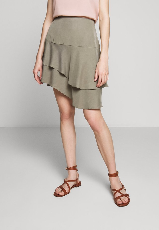 LAERA DOLPHINE SKIRT - A-Linien-Rock - olive tree