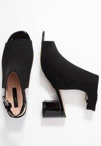 Miss Selfridge - SHIMMER BUCKLE - Sandaler - black - 3