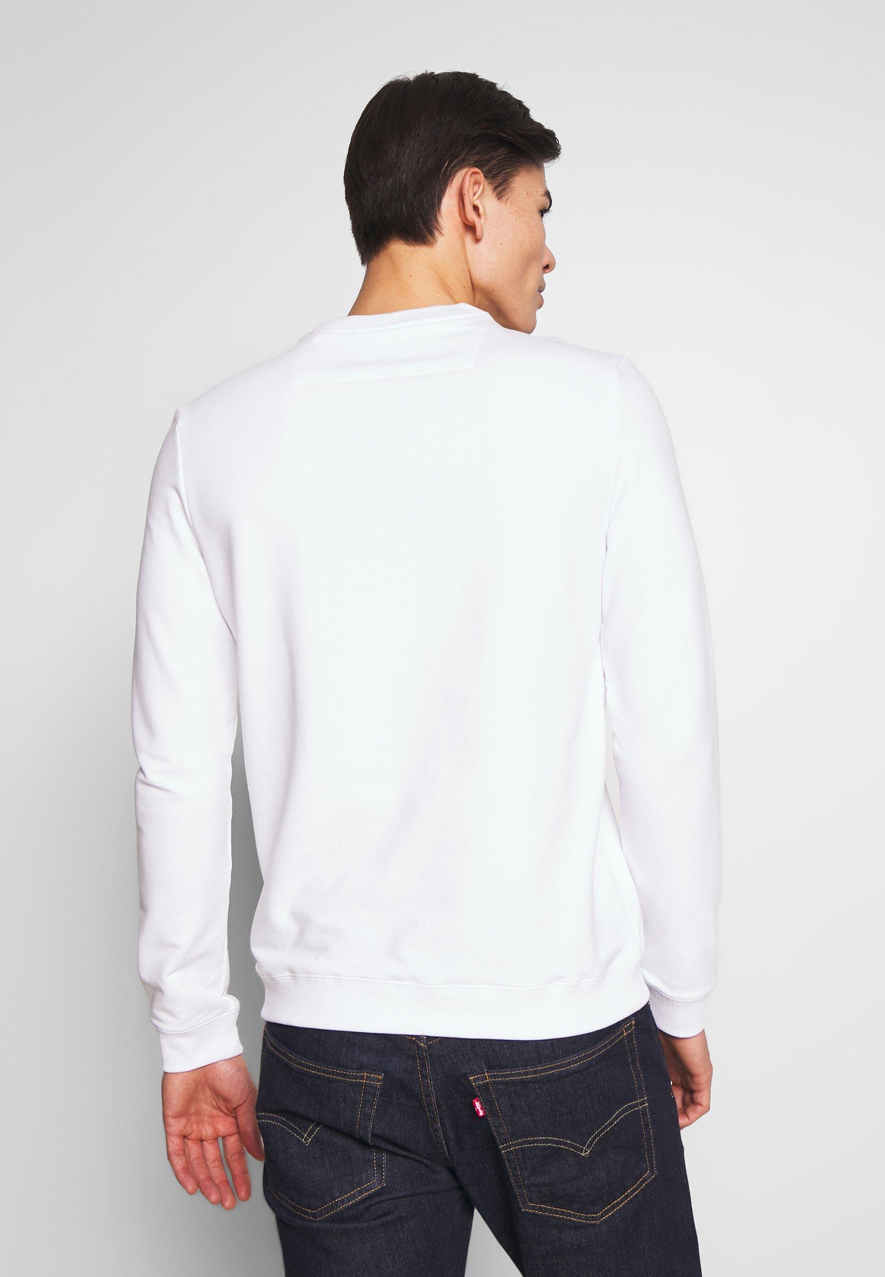Alkuperäinen Miesten vaatteet Sarja dfKJIUp97454sfGHYHD Guess AUDLEY Collegepaita blanc pur