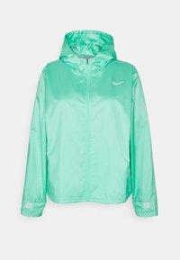 green glow/reflective silver