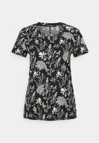 Scotch & Soda - SHORT SLEEVE TEE - Print T-shirt - black/white - 0