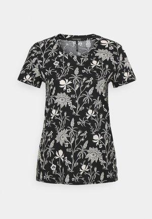 SHORT SLEEVE TEE - Print T-shirt - black/white