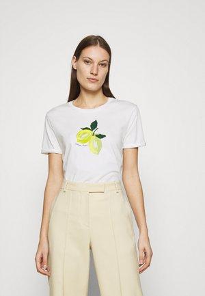 ROMY LIME - Print T-shirt - cream white