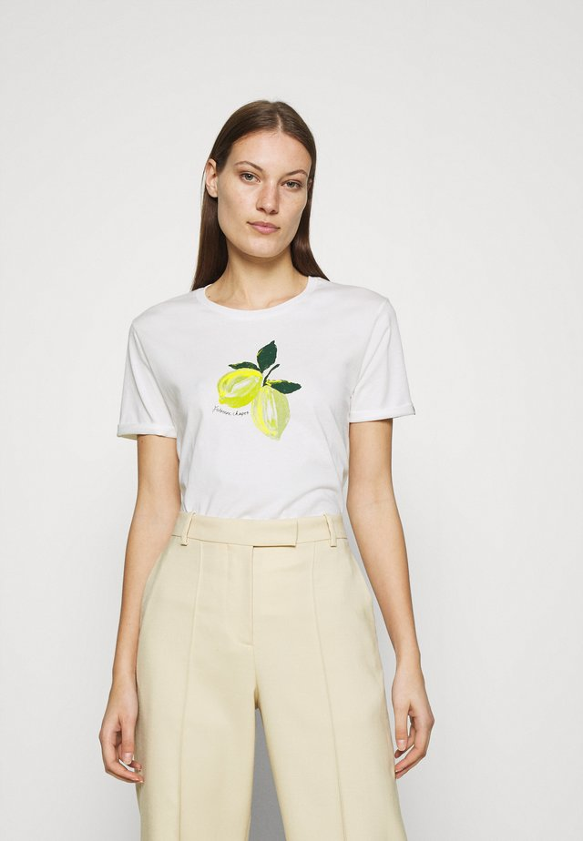 ROMY LIME - T-shirt con stampa - cream white
