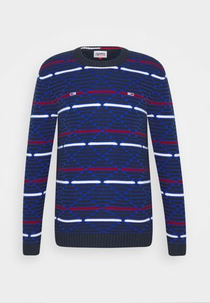 PATTERN MIX SWEATER - Jumper - twilight navy/multi