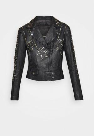 CRISTOFORO JACKET - Leather jacket - black