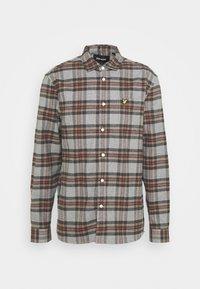 Lyle & Scott - BRUSHED CHECK - Overhemd - mid grey marl - 4