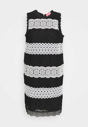 FLORAL DOT SHIFT DRESS - Vestido informal - black