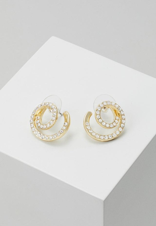 MINNA FUNKY TWIST - Boucles d'oreilles - gold-coloured/clear