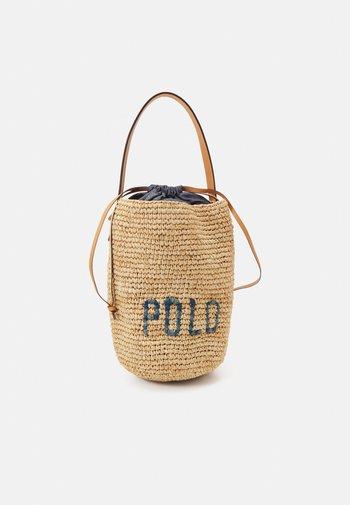 BUCKET - Handbag - natural/blue