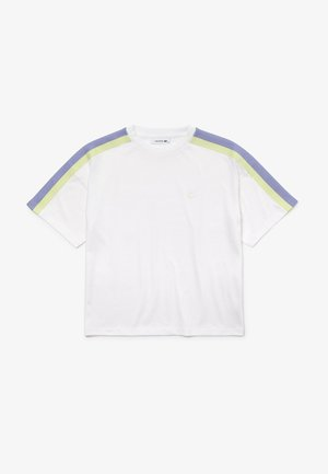 Print T-shirt - weiß / lila / grün