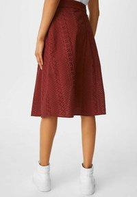 C&A - A-line skirt - dark red - 2