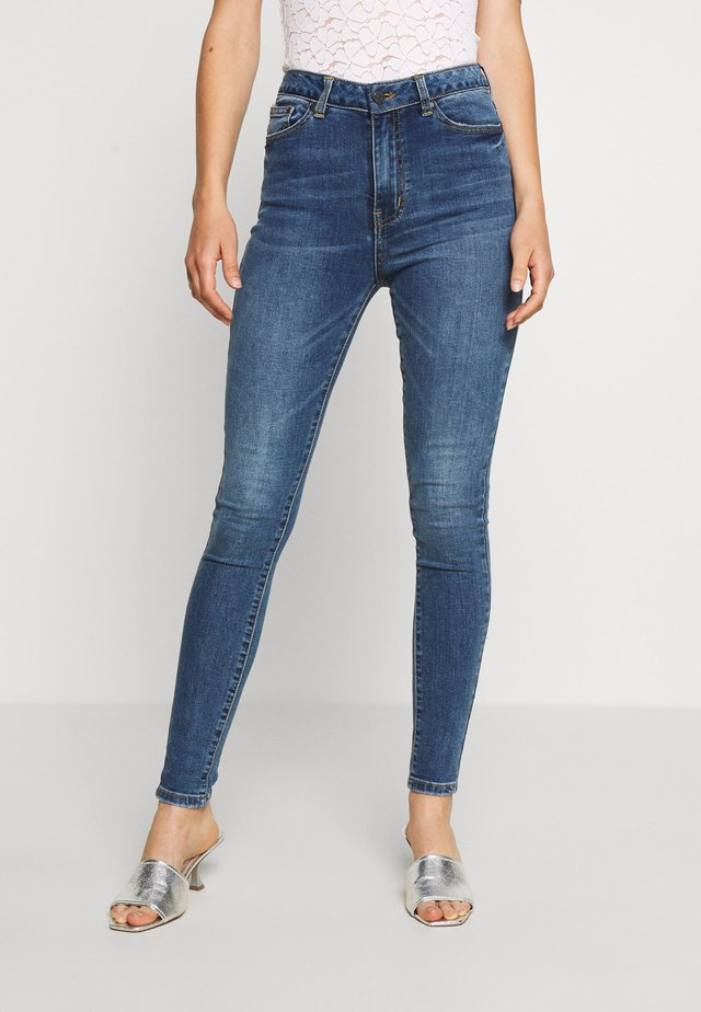 OBJWIN - Skinny-Farkut - medium blue denim