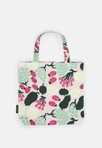 Marimekko - NOTKO PIENI TORI - Shopping bag - off white/green/pink - 0