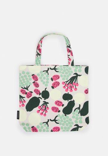NOTKO PIENI TORI - Tote bag - off white/green/pink