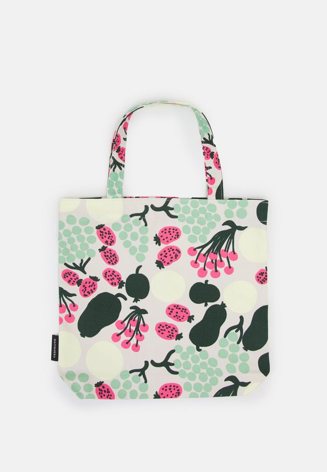 NOTKO PIENI TORI - Shopping Bag - off white/green/pink