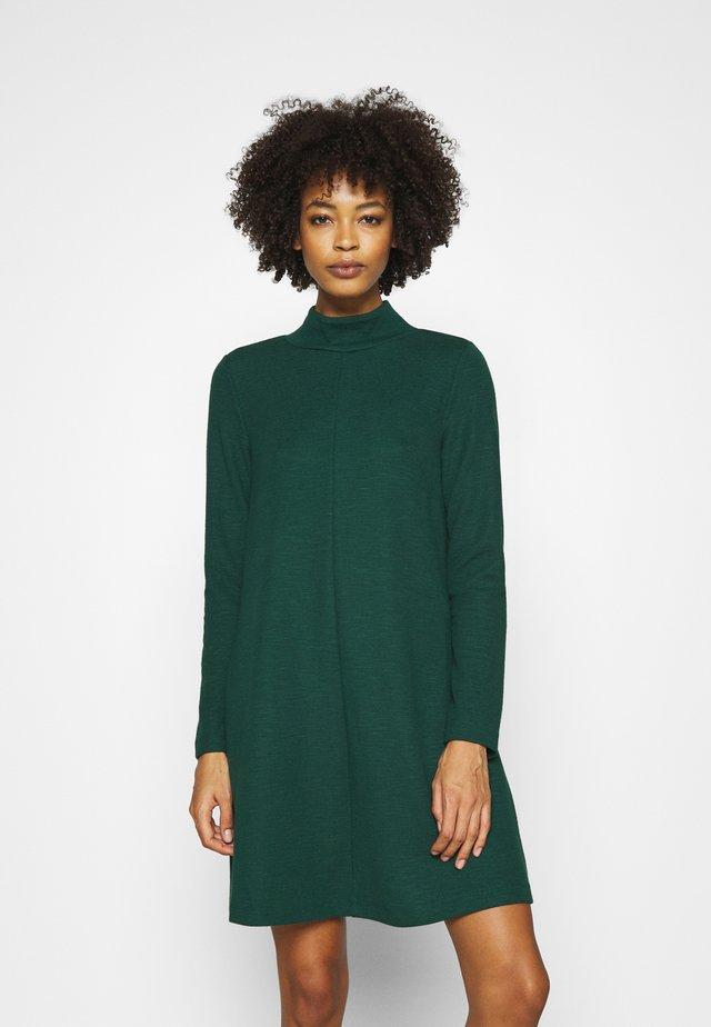 MOCK NECK DRESS OTTOMAN - Jumper dress - pine green