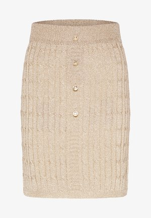 Mini skirt - gold