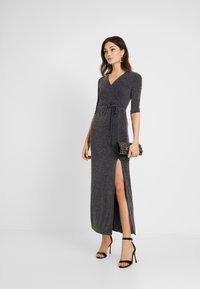 Club L London - WRAP SPARKLE TIE FRONT MAXI DRESS - Maxi dress - grey - 2