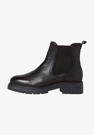 Korte laarzen - black leather