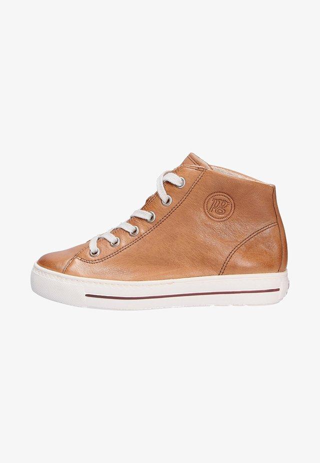 High-top trainers - medium brown