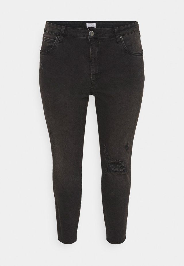 ADRIANNA HIGH - Jeans Skinny Fit - black