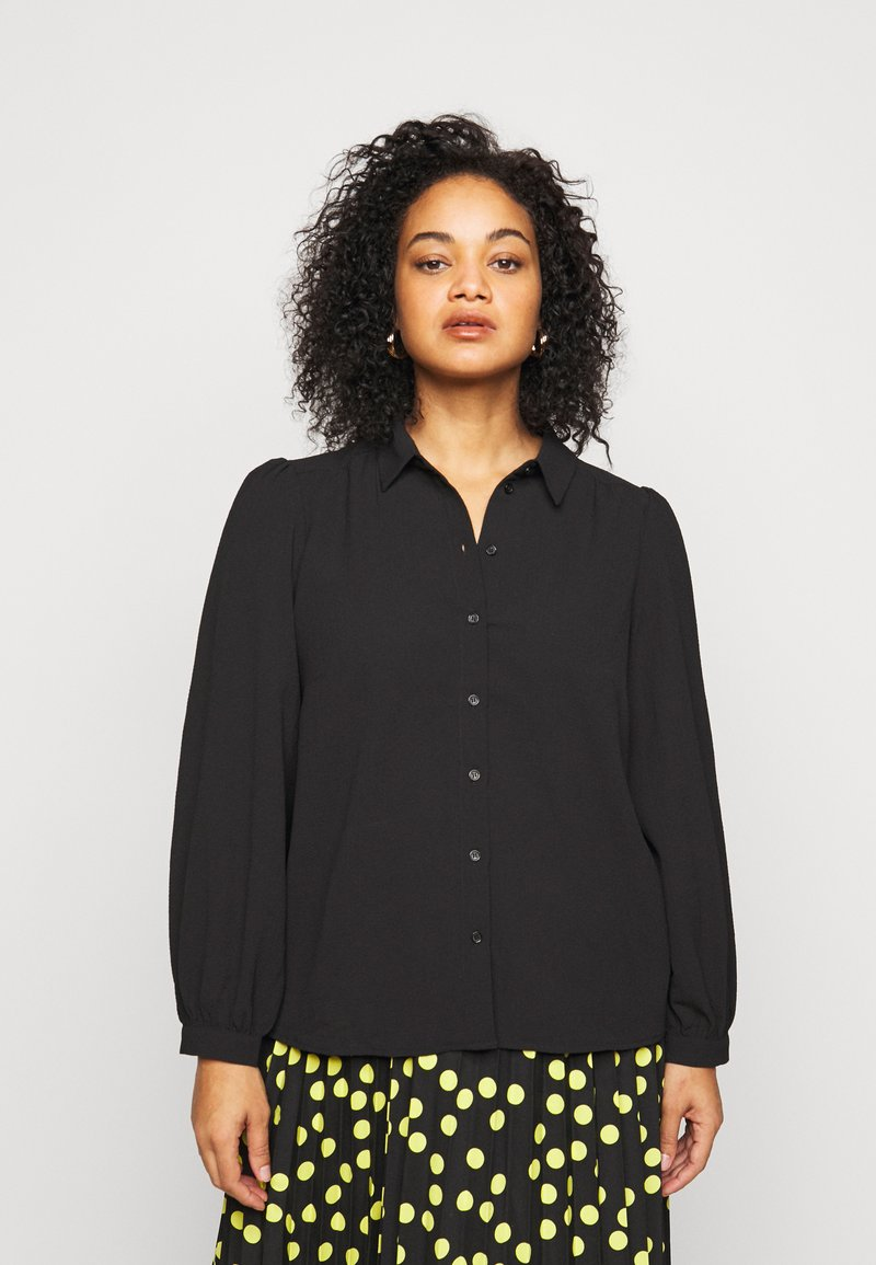 Vero Moda Curve - VMAYA - Button-down blouse - black