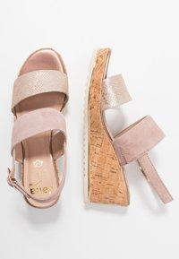 Jana - Platform sandals - rose/gold - 2