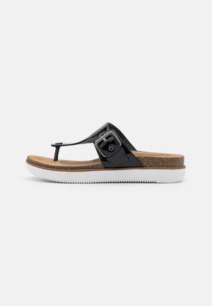 ELAYNE STEP - Sandály s odděleným palcem - black