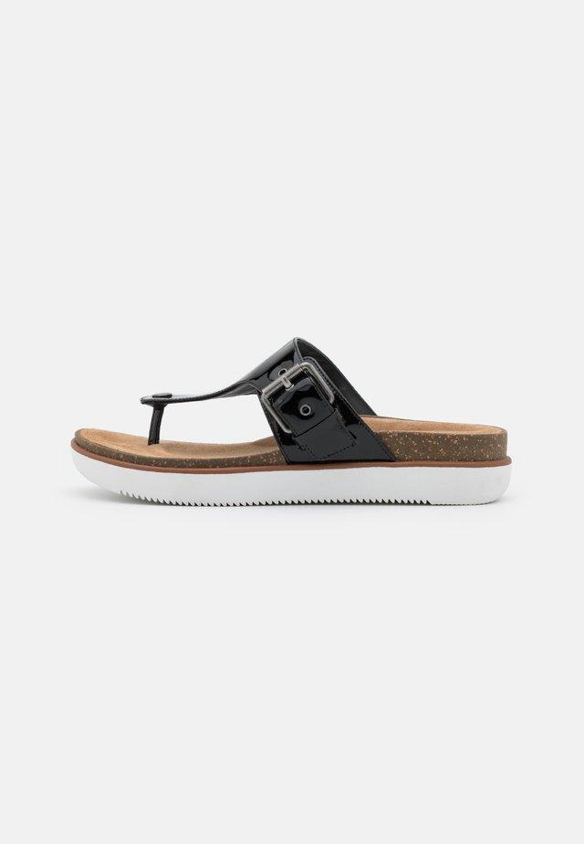 ELAYNE STEP - Sandaler m/ tåsplit - black