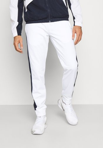 TRACK PANT - Pantaloni sportivi - white/navy blue